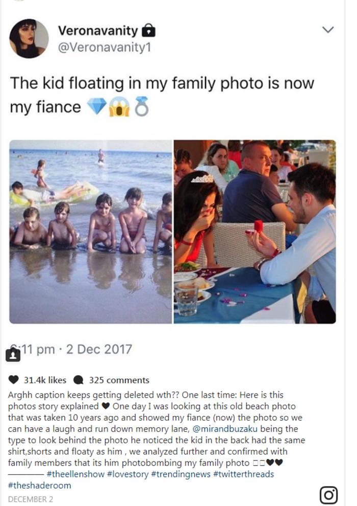 Αντρας βρήκε τον εαυτό του σε παιδική φωτογραφία της γυναίκας του!