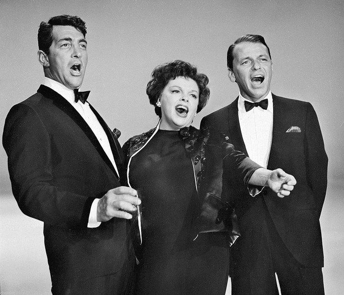 Ο Φραν Σινάτρα με τον Ντην Μάρτιν και την Τζούντι Γκάρλαντ (1961)