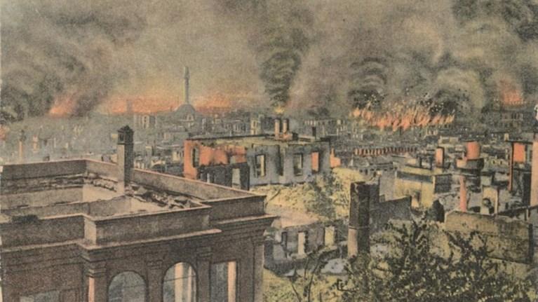 «1917: Μνημεία στις φλόγες» - Μοναδική έκθεση στο Μπέη Χαμάμ