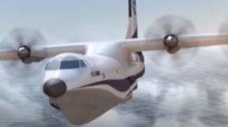 Το μεγαλύτερο αμφίβιο αεροσκάφος στον κόσμο έκανε την πρώτη του πτήση
