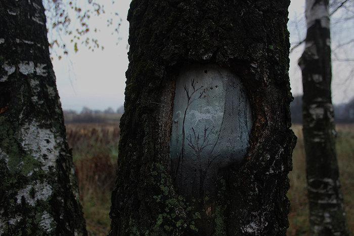 Έργα τέχνης μέσα στο δάσος και σε κορμούς δέντρων - εικόνα 3
