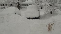 Πόλη στις ΗΠΑ θάφτηκε στο χιόνι ύψους ενάμιση μέτρου