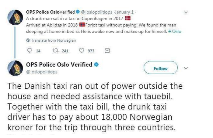 Μεθυσμένος πήρε ταξί για να πάει από τη Δανία στη Νορβηγία! Πόσα πλήρωσε