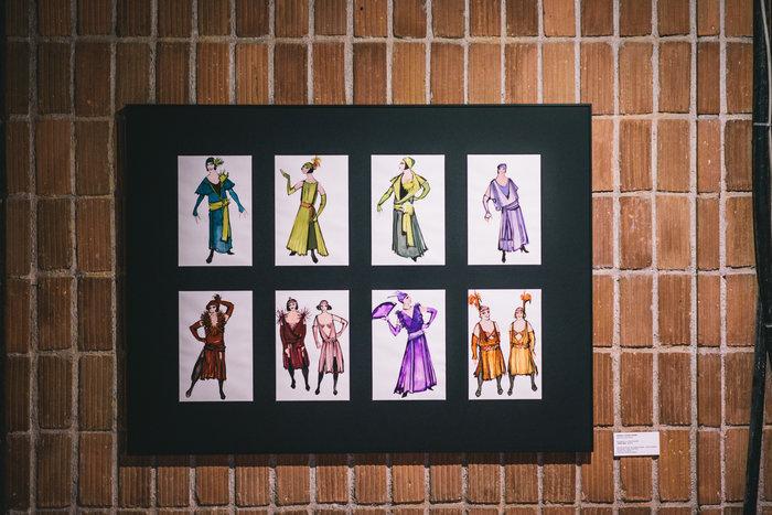 Ζωγραφική μακέτα για την όπερα Χριστίνα στην Εθνική Λυρική Σκηνή σε σκηνοθεσία Γιώργου Ρεμούνδου (φωτογραφία Χρήστος Τόλης)