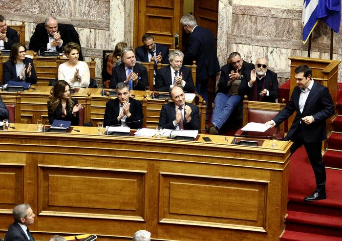 Τα κυβερνητικά έδρανα στη Βουλή