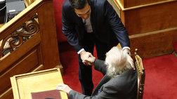 H απρόσμενη συνάντηση του Αλέξη Τσίπρα στην Ολομέλεια της Βουλής