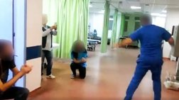 Το έριξαν στο ...ζεϊμπέκικο μέσα στο νοσοκομείο της Μυτιλήνης