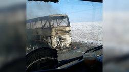 Τραγωδία στο Καζακστάν: 52 νεκροί από φωτιά σε λεωφορείο (ΒΙΝΤΕΟ)