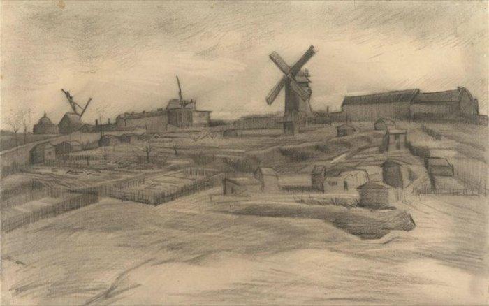 Βίνσεντ βαν Γκογκ, «Ο λόφος της Μονμάρτης», 1886. Φωτ. Van Gogh Museum, Amsterdam (Vincent van Gogh Foundation).A- A A+
