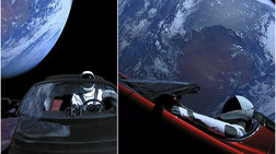 Το Tesla του Έλον Μασκ βολτάρει στο διάστημα - εξωπραγματικές εικόνες