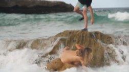 Η παρ' ολίγον μοιραία τούμπα της ημίγμνης Κέιτ Απτον: Ενα απίστευτο βίντεο