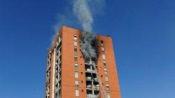 Πυρκαγιά στον 10o όροφο πολυκατοικίας στο Μιλάνo: 7 άνθρωποι στο νοσοκομείο