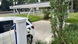 Ο πρώτος σταθμός ηλιακής φόρτισης ηλεκτροκίνητων οχημάτων στην Τήλο
