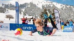 Εντυπωσίασε το 1ο Πανελλήνιο Πρωτάθλημα Snow Volley στα Καλάβρυτα