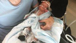 Συγκινεί η ηθοποιός με την εγχείρηση καρδιάς του νεογέννητου γιου της