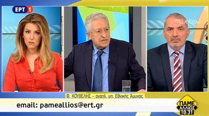 Τηλεοπτική «πρεμιέρα» Κουβέλη με κάλυψη σε Καμμένο για Σ. Αραβία