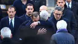Θρήνος στην κηδεία του αρχηγού της Φιορεντίνα (φωτό)