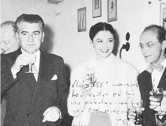 (Από αριστερά) Δ. Ψαθάς, Α. Συνοδινού, Ντ. Ηλιόπουλος (διακρίνεται ο Αιμίλιος Βεάκης)