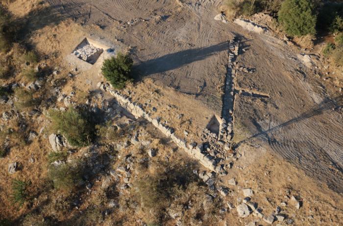 Άποψη του δυτικού τμήματος της οχύρωσης