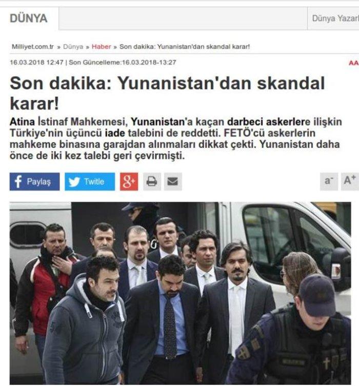 Τουρκικά ΜΜΕ: Σκάνδαλο η απόφαση για τους «8» - εικόνα 3