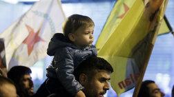 Πορεία για το Αφρίν από επιτροπές Κούρδων και οργανώσεις της Αριστεράς