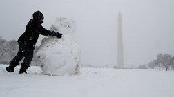 Χιόνια και θυελλώδεις άνεμοι σε Νέα Υόρκη και Ουάσιγκτον