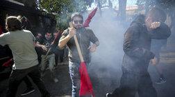 Ενταση και δακρυγόνα στο πανεκπαιδευτικό συλλαλητήριο στο κέντρο της Αθήνας