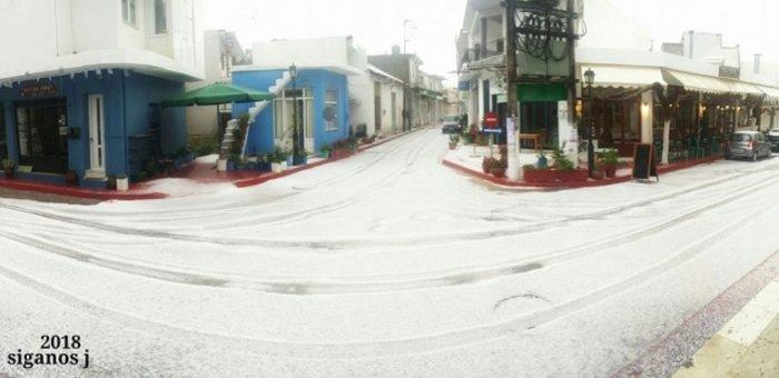 Ο καιρός τρελάθηκε στην Κρήτη -Πάσχα με... χιόνι και χαλάζι [εικόνες] - εικόνα 2