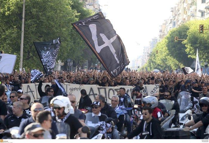 Συλλαλητήριο των οπαδών του ΠΑΟΚ στη Θεσσαλονίκη (φωτό) - εικόνα 4