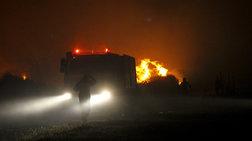 Ισχυρές πυροσβεστικές δυνάμεις επιχειρούν στην Φρίξα Ηλείας