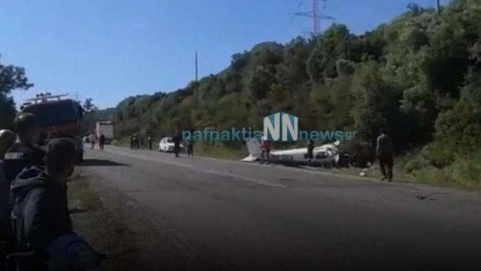 Ενας νεκρός από πτώση διθέσιου αεροσκάφους στη Φωκίδα- Βίντεο