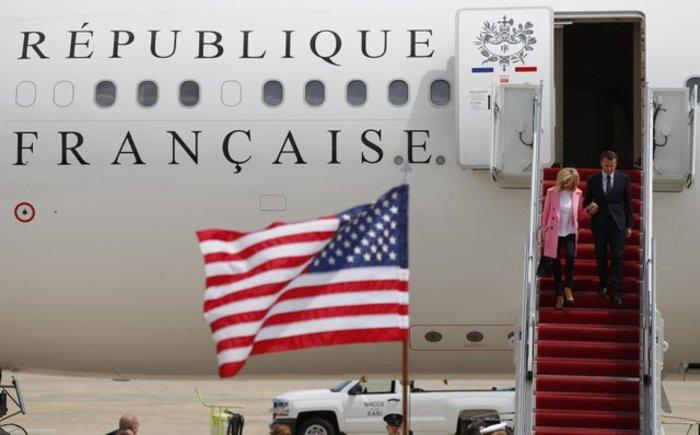 Εφθασαν στις ΗΠΑ ο Εμανουέλ Μακρόν και η Μπριζίτ Τρονιέ - Εικόνες - εικόνα 7
