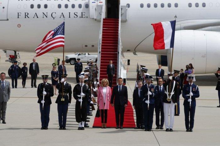 Εφθασαν στις ΗΠΑ ο Εμανουέλ Μακρόν και η Μπριζίτ Τρονιέ - Εικόνες - εικόνα 9