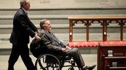 Στο νοσοκομείο ο Τζορτζ Μπους μετά την κηδεία της γυναίκας του