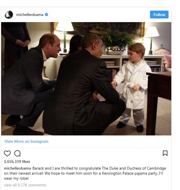 Μόνο η Μισέλ Ομπάμα θα μπορούσε να συγχαρεί τόσο έξυπνα την Κέιτ Μίντλετον