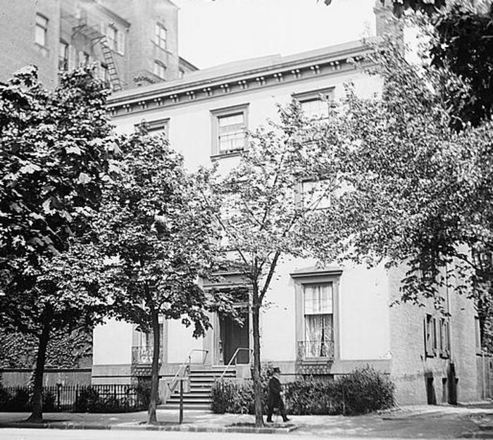 Το Blair House ως ξεχωριστό κτήριο το 1919