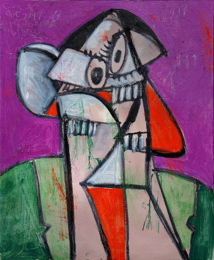 George CondoSelf Portrait in Paris 12017acrylic on linen65 x 54 cm© George Condo, 2018Courtesy of the Artist, Skarstedt Gallery and Sprüth Magers