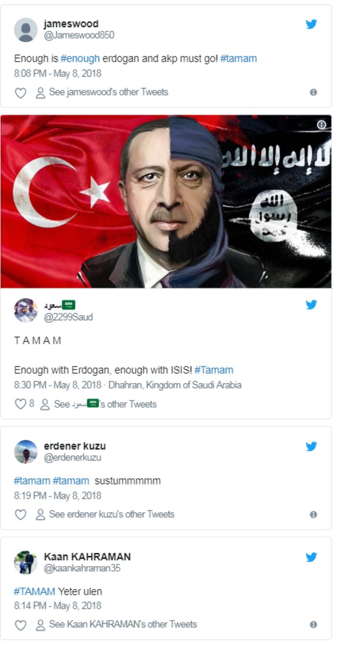 #Tamam Ταγίπ: Οι Τούρκοι λένε «Aρκετά!» μέσω Twitter στον Ερντογάν