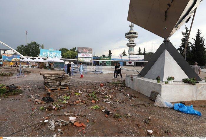 Θεσσαλονίκη: 24 ώρες μετά η πόλη μετράει τις πληγές της - εικόνα 8
