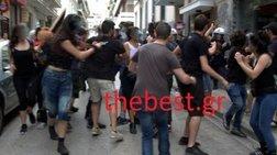 Επεισόδια σε διαμαρτυρία κατά των ηλεκτρονικών πλειστηριασμών στην Πάτρα