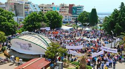 Συλλαλητήριο στην Καβάλα κατά των νέων διοδίων - Βίντεο