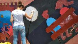 Θεσσαλονίκη: Μαθητές ζωγράφισαν τοίχους στην παραλία