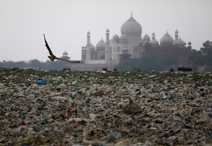 Το Ταζ Μαχάλ χρωματίζεται... πράσινο από τη ρύπανση - Εικόνες - εικόνα 4