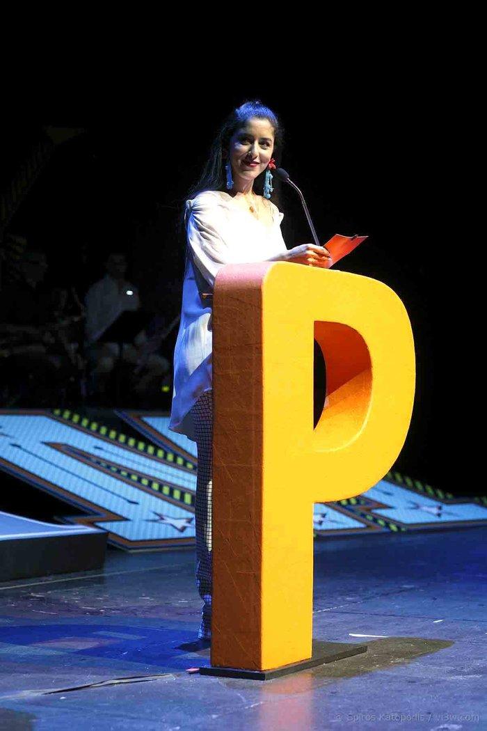 Η Μαρίνα Σάττι απένειμε το βραβείο στην κατηγορία Ηρωϊδα - έμπνευση
