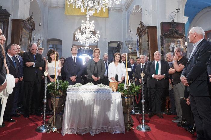 Με πολλές παρουσίες το μνημόσυνο του Κωνσταντίνου Μητσοτάκη στα Χανιά