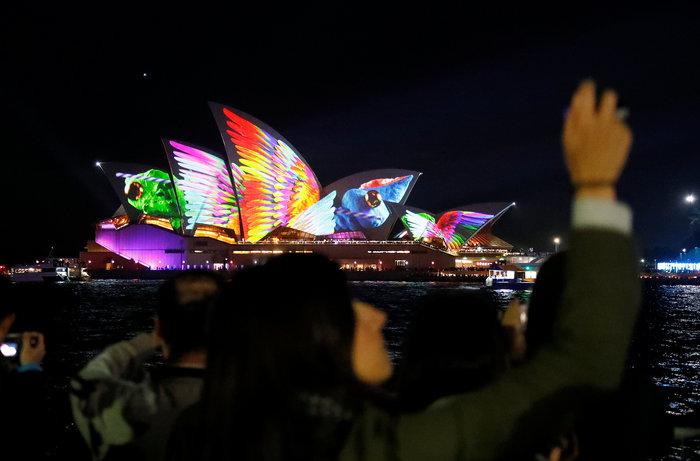 Vivid Sydney: Λαμπερό «πάρτι» φωτός στη φημισμένη όπερα της Αυστραλίας - εικόνα 6