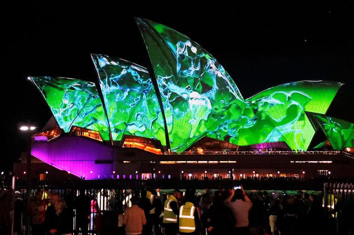 Vivid Sydney: Λαμπερό «πάρτι» φωτός στη φημισμένη όπερα της Αυστραλίας - εικόνα 9