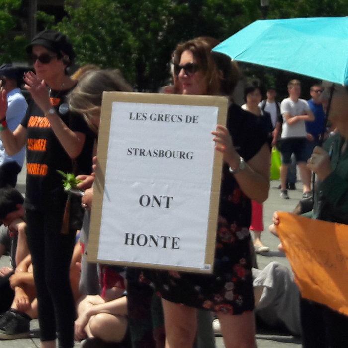 Διαδήλωση κατά της Χρυσής Αυγής στο Στρασβούργο