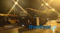 Ντοκουμέντο από την επίθεση σε κλούβα των ΜΑΤ στη Θεσσαλονίκη