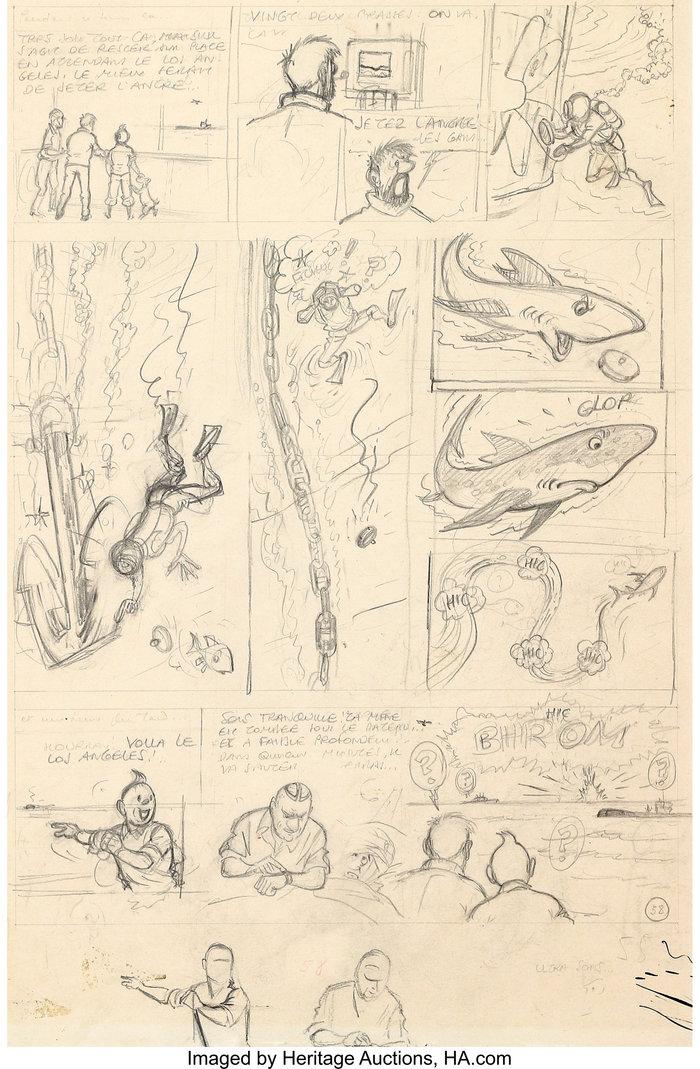 Τυπογραφικές πλάκες με τις περιπέτειές του Τεντέν πωλήθηκαν 364.000 ευρώ
